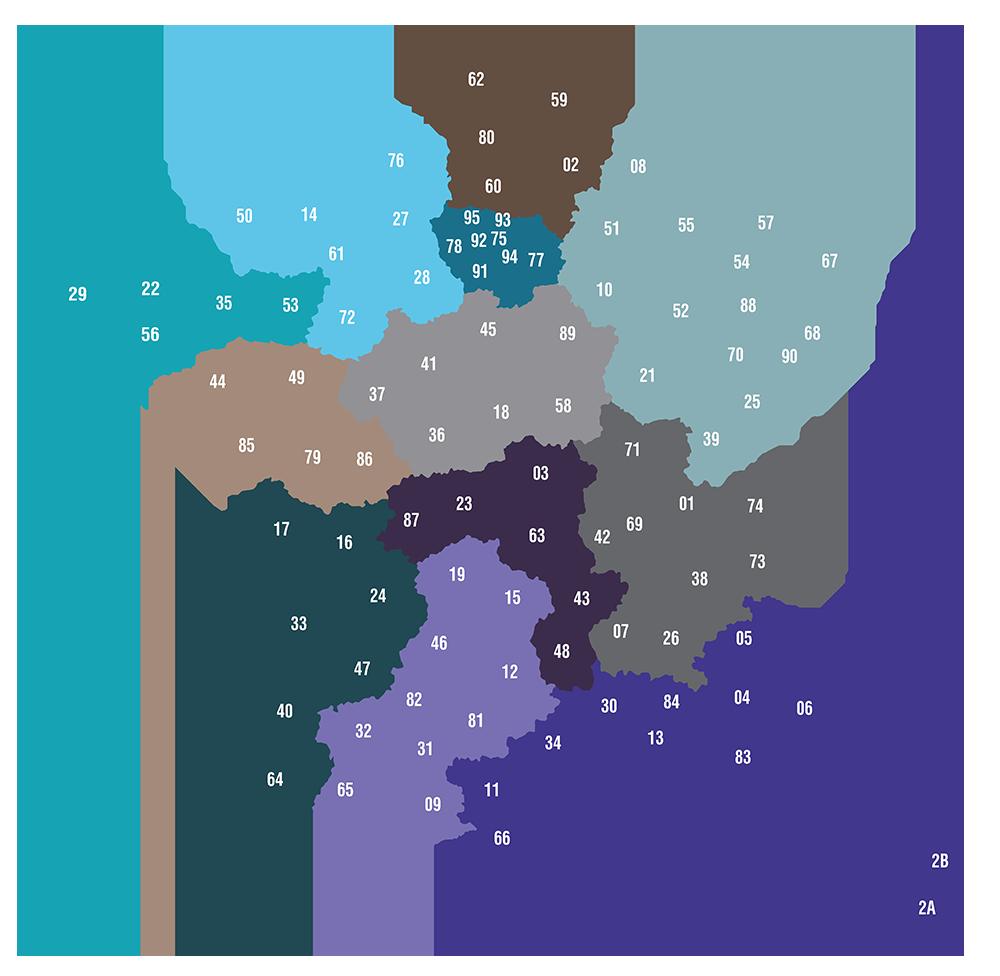 carte contact par region