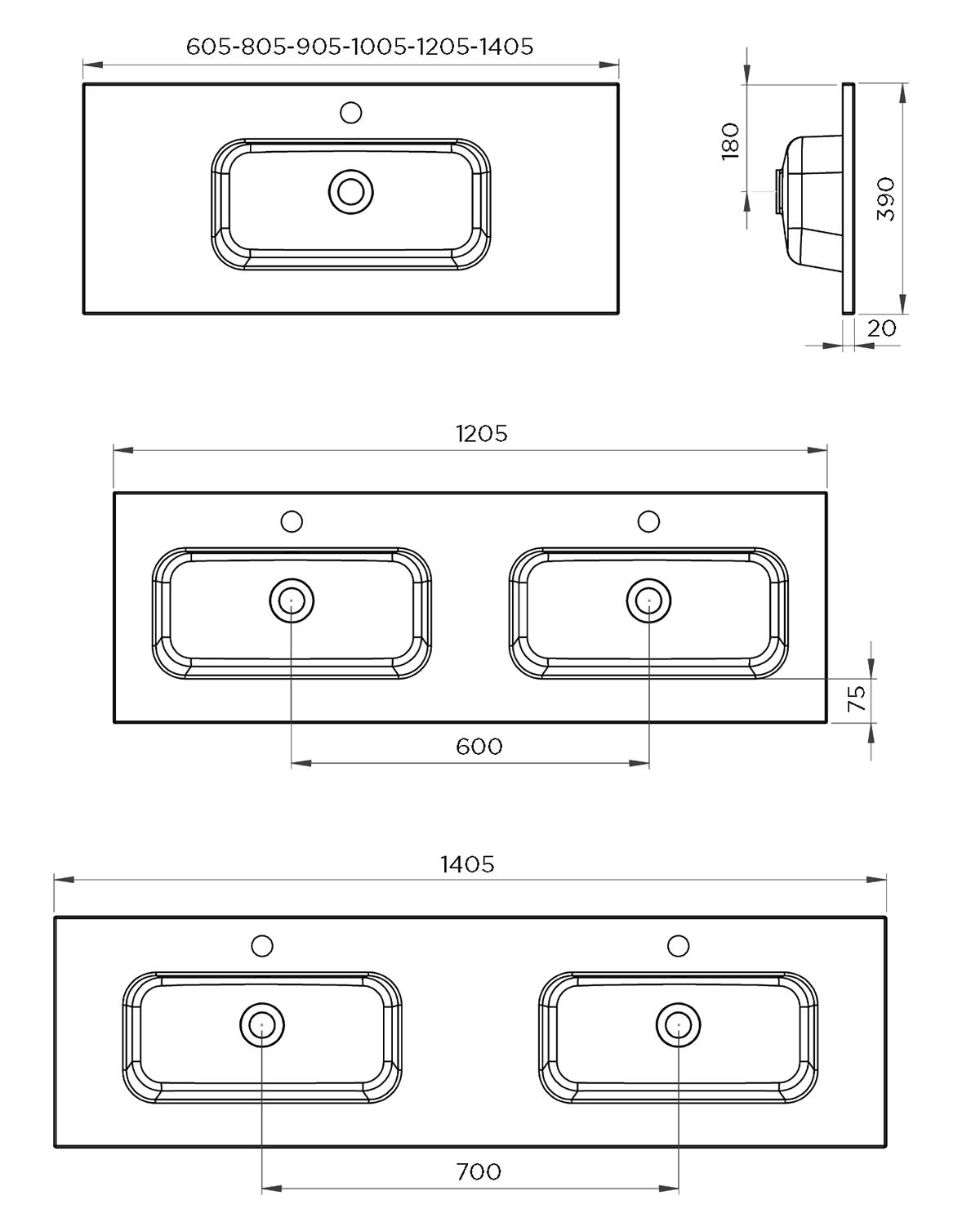 Plan vasque Corail