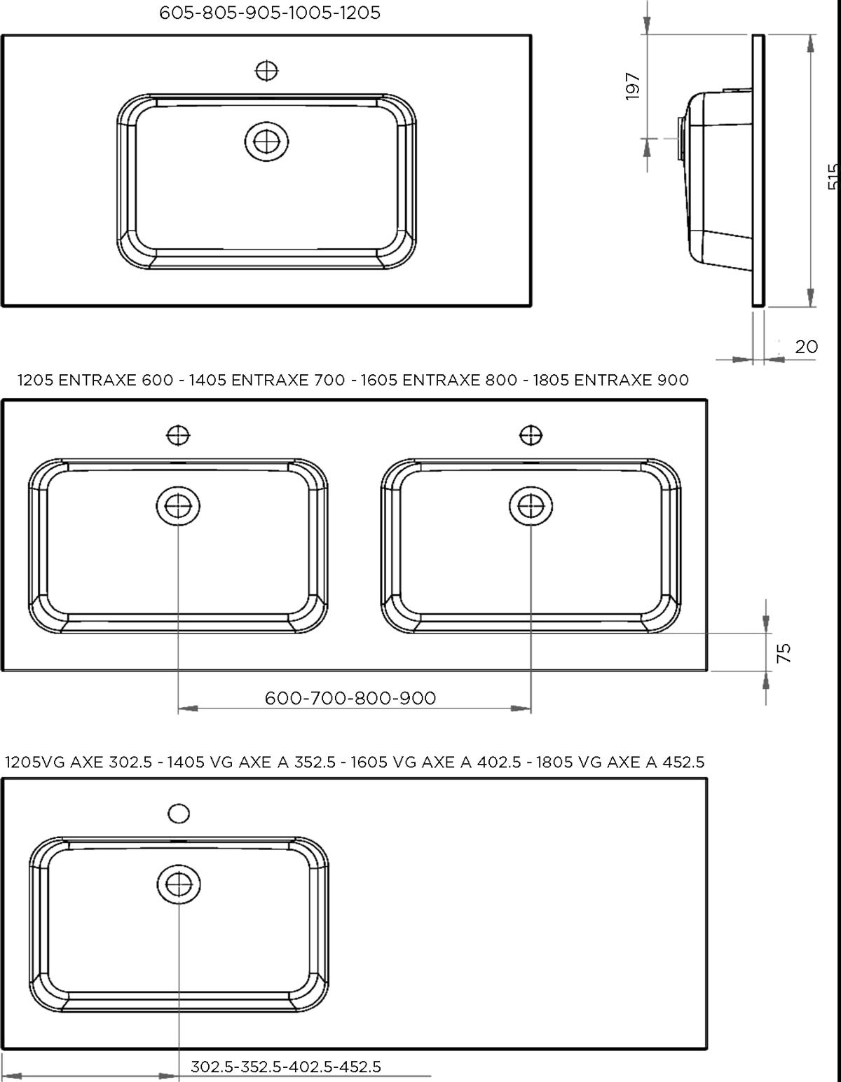 Plan vasque Savane